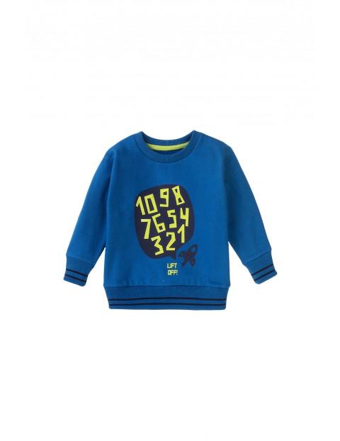 Bluza dresowa chłopięca z cyferkami