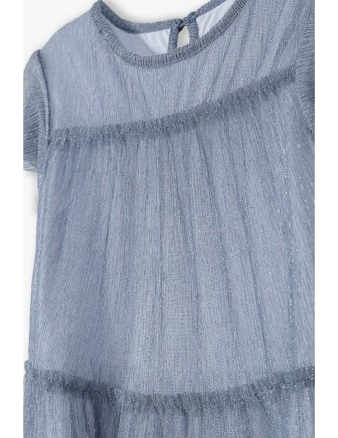Sukienka dziecięca rozkloszowana - szara