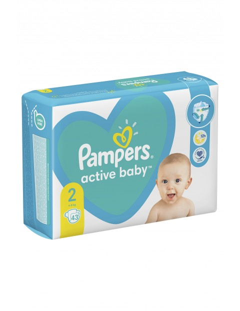 Pampers Active Baby, rozmiar2, 43szt, 4-8kg