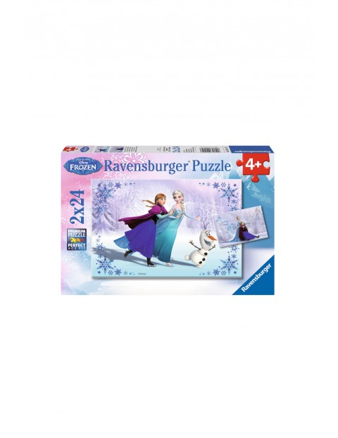 Puzzle Frozen Siostry 2 x 24 elementy 4+