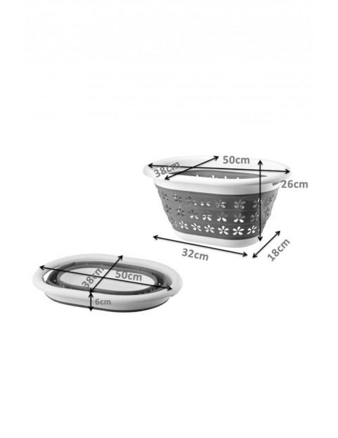 Kosz na pranie COMPACT silikonowy 50x37,5x27cm