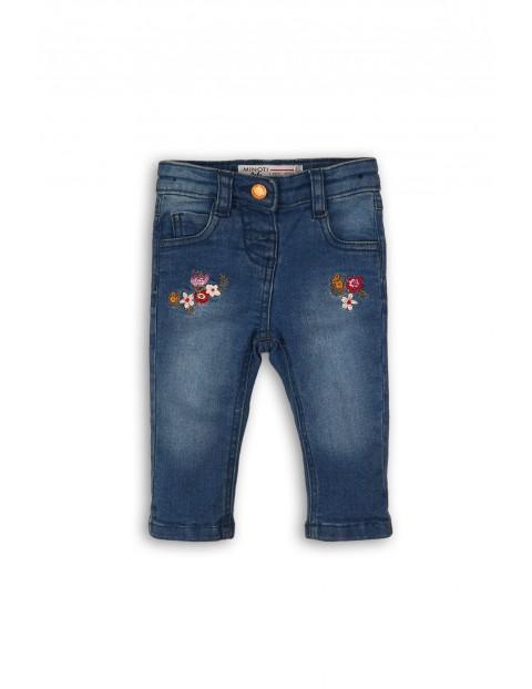 Niebieskie jeansowe spodnie dla dziewczynki