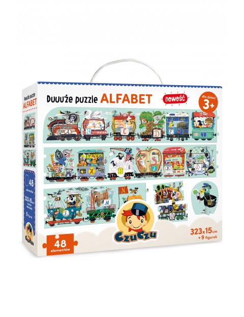 Duuuże puzzle alfabet CzuCzu 48el 3+