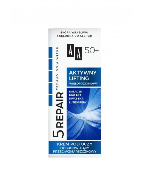 AA Technologia Wieku 5Repair 50+ Aktywny lifting krem pod oczy 15 ml