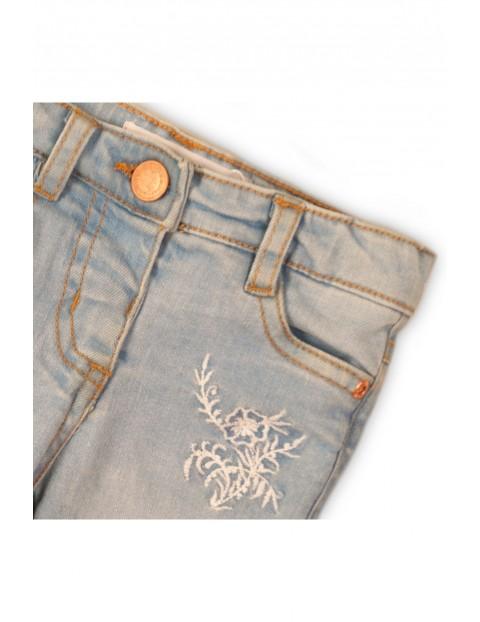 Jeansowe spodnie dziewczęce - niebieskie