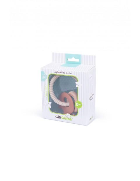 Gryzak pierścień słoń GiliGums - brązowy - wiek 0msc+
