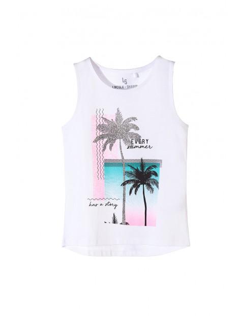 Koszulka na ramiączka dla dziewczynki- wakacyjne nadruki