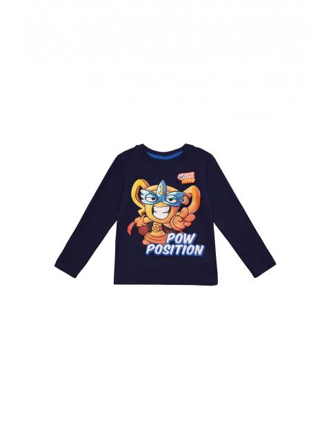 Bawełniany t-shirt chłopięcy Super Zings- granatowy