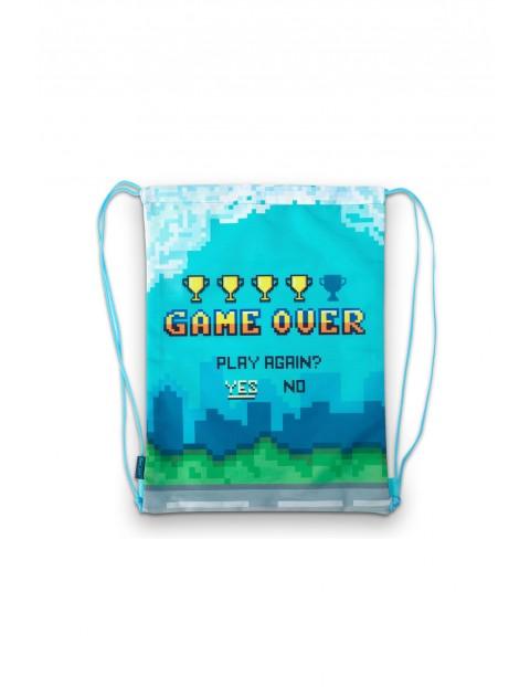 Worek szkolny z nadrukiem Game Over