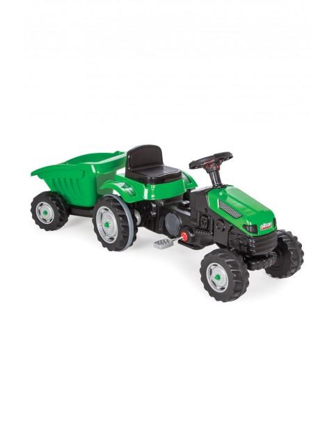 Traktor na pedały z przyczepą zielony