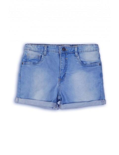 Spodenki dziewczęce jeansowe- niebieskie