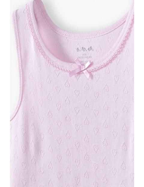 Podkoszulki bieliźniane dla dziewczynki różowy i biały 2pak