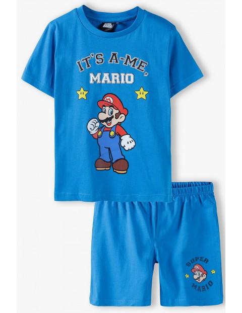 Piżama chłopięca Super Mario - niebieska