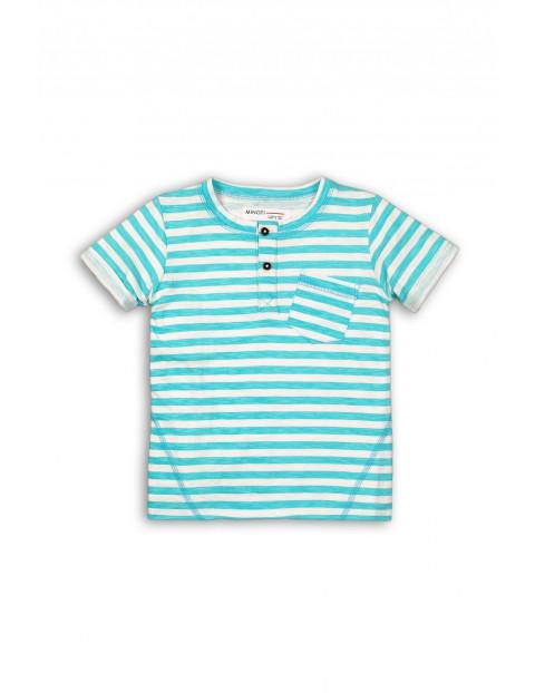 T-shirt niemowlęcy w biało-niebieskie paski