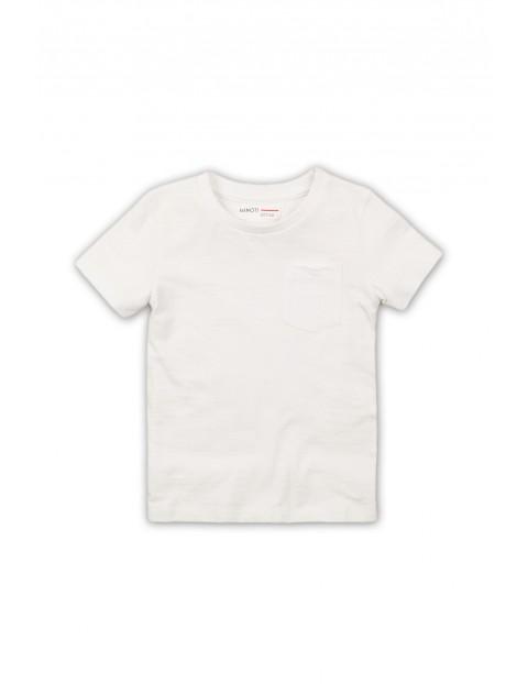 Biały bawełniany t-shirt dla niemowlaka