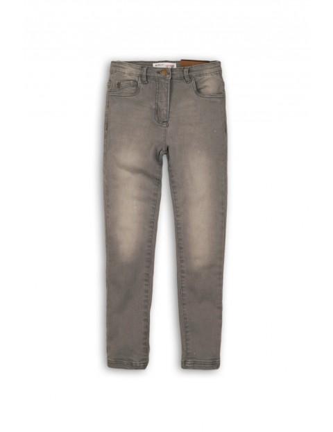 Spodnie dziewczęce jeansowe szare