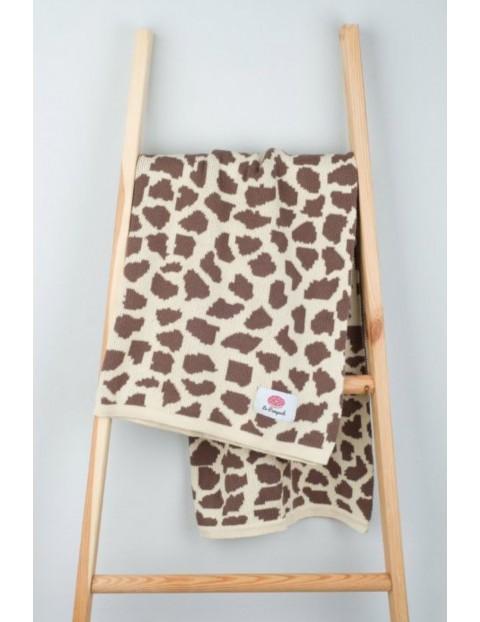 Kocyk bawełniany żyrafa- 100x80cm