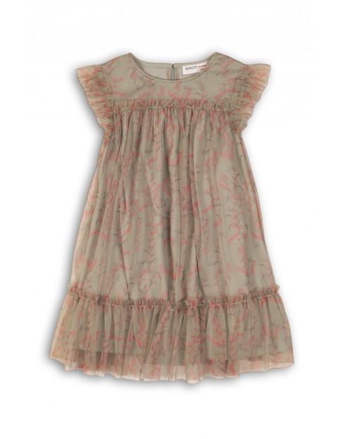 a44550f634 Sukienka dziewczęca tiulowa w kwiaty