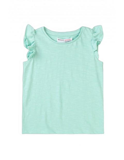 Bawełniana bluzka dziewczęca błękitna