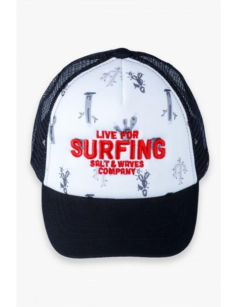 Czapka chłopięca z daszkiem- Live for Surfing