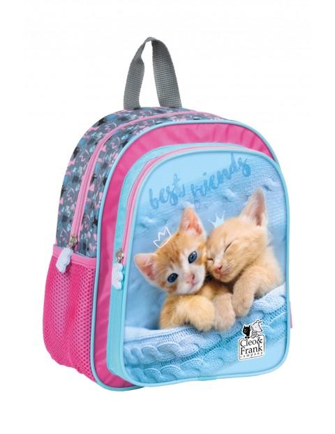 Plecak dla przedszkolaka niebiesko-różowy