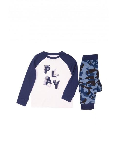 Pidżama chłopięca biało-granatowa - Play