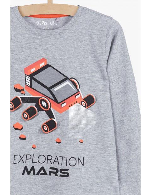 Szara bluzka z kolorowym nadrukiem- Exploration Mars