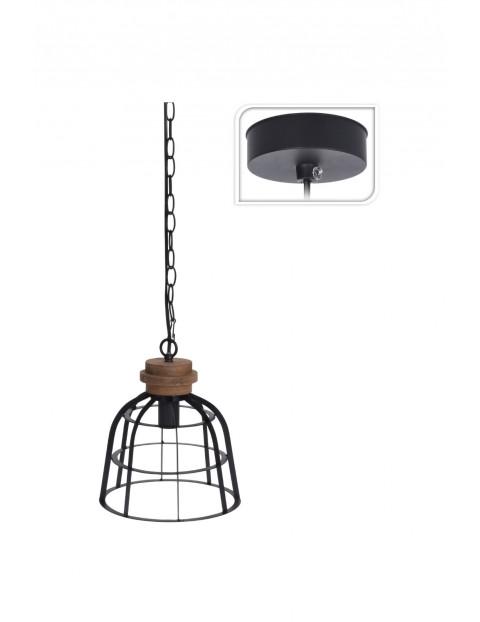 Lampa sufitowa metal/drewno