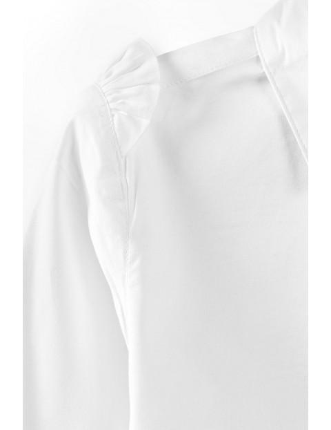 Elegancka koszula dziewczęca zapinana na guziki - biała