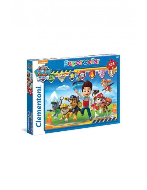 Puzzle Super kolor Psi Patrol wiek 6+  104 elementy