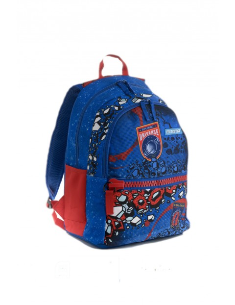 Plecak szkolny chłopięcy  - niebieski