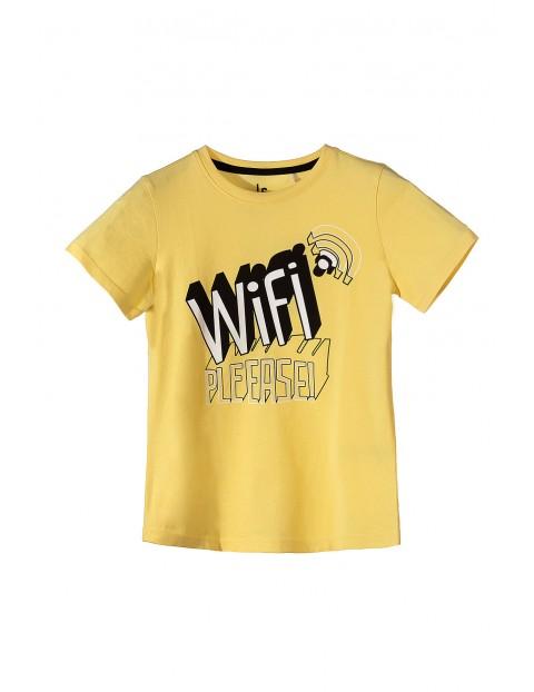 Koszulka chłopięca z krótkim rękawem WIFI-zółta