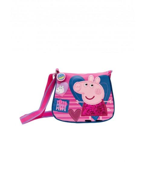 Torebka dziewczęca  - różowa - Świnka Peppa
