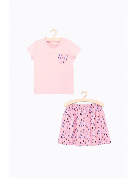 Zestaw ubrań dla dziewczynki spódnica i t-shirt