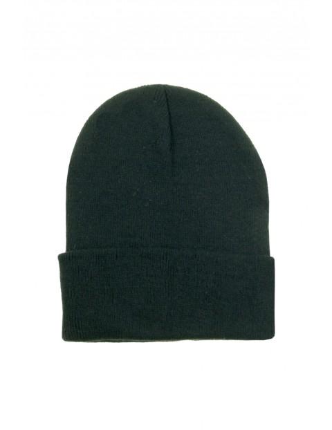 Klasyczna czapka zimowa męska - czarna