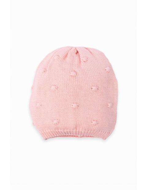 Czapeczka niemowlęca przejściowa - różowa