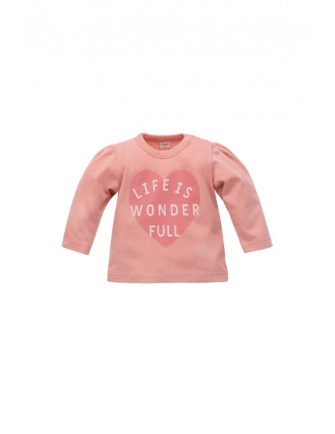 Bluzka niemowlęca z długim rękawem Life is wonderfull