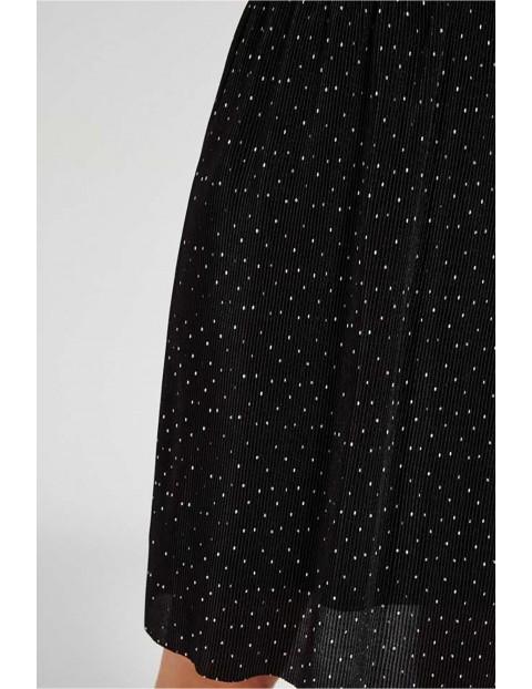 Spódnica damska prążkowana w groszki