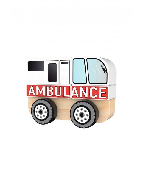 Zabawka drewniana - Ambulans