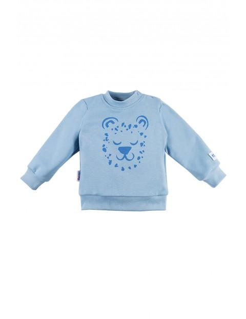 Bluza niemowlęca rozpinana NATURE - niebieska