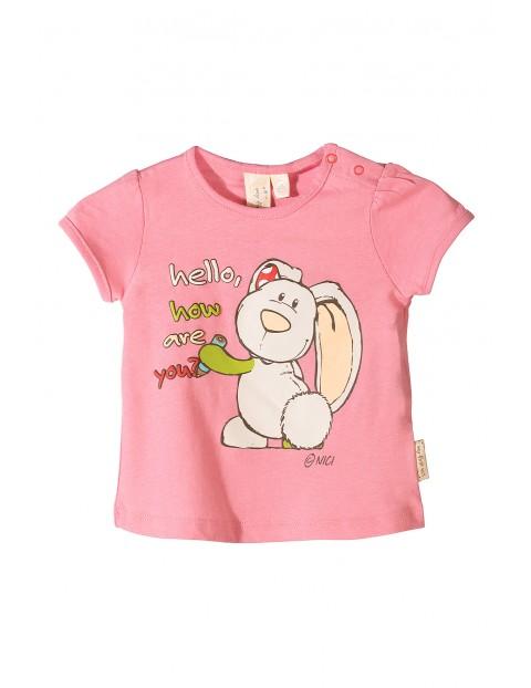 Koszulka niemowlęca Nici różowa