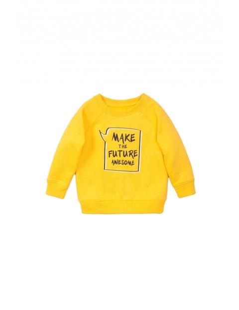 Bluza dresowa chłopięca żółta