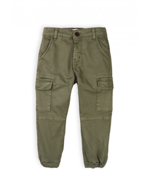 Spodnie chłopięce bojówki z kieszeniami khaki