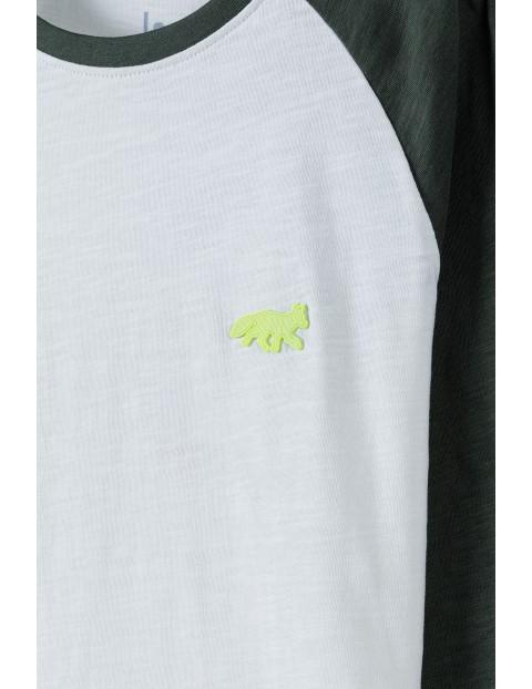 Bawełniana bluzka chłopięca z długim rękawem