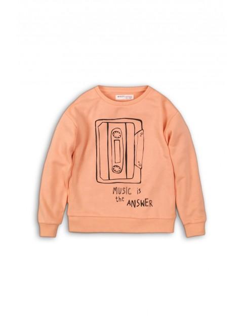Bluza dziewczęca nierozpinana- różowa Music