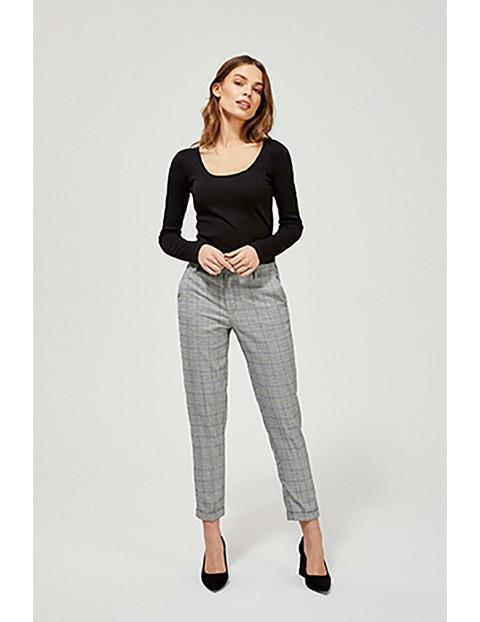 Spodnie damskie typu cygaretki - szare