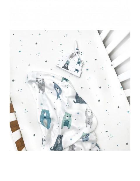 Otulacz muślinowy Pastelowe Misie 100x150cm