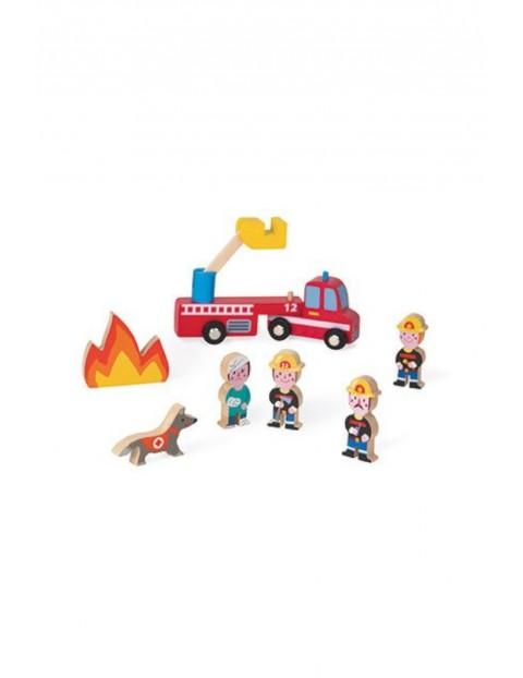 Strażacy zestaw drewniany 8 elementów kolekcja Story Janod