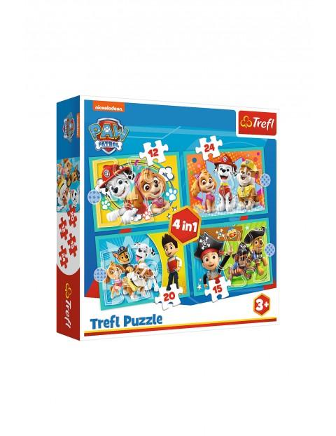 Puzzle 4w1 - Wesoła ekipa Psiego Patrolu wiek 3+