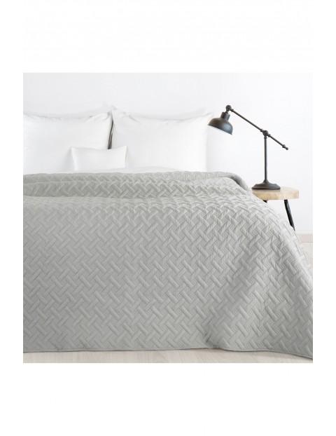 Narzuta pikowana na łóżko - popielata - 170 x 210 cm